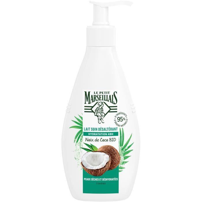LE PETIT MARSEILLAIS Lait corps hydratant à la noix de coco - Peaux sèches Bio - 250 ml