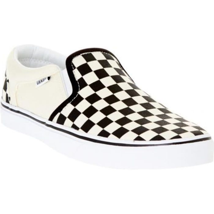 Chaussures Slip-on Vans Asher Checkers-Noir-Natural