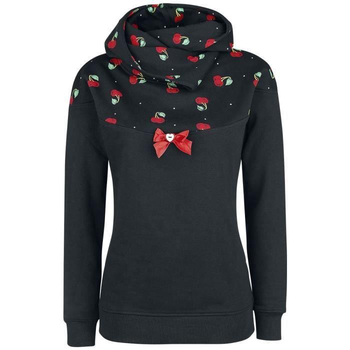 Pussy Deluxe Sweat À Col Châle Cherry Bomb Sweat-shirt à capuche noir