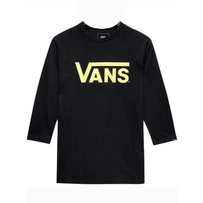 T-shirt manches raglan Enfant Vans Classic Noir-Noir-Sunny Lime