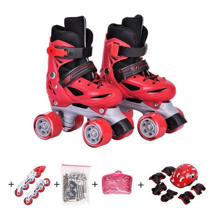 Patins à roulettes Enfant Transformable en Patins à Glace +châssis in line+accessoires+sac à main+équipement de protection+casque
