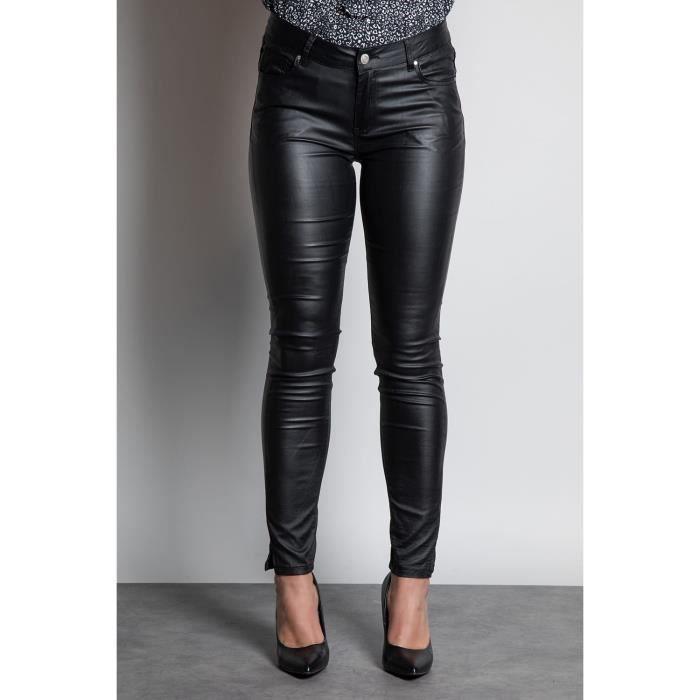 DEELUXE Jeans effet cuir GLORIA Black