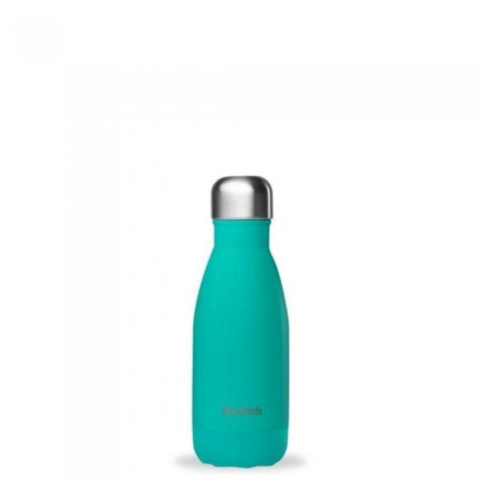 Bouteille isotherme 260 ml pop bleu lagon qwetch Bleu