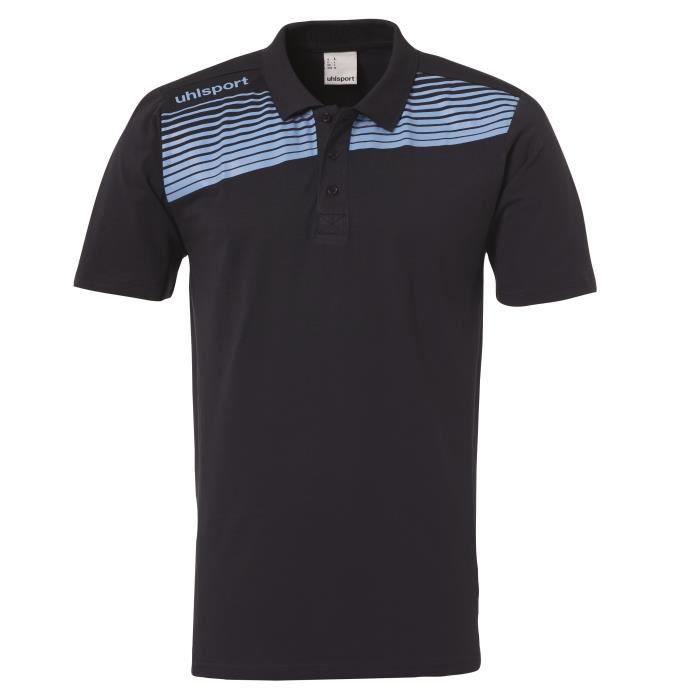 Polo Uhlsport Liga 2.0 - bleu marine-bleu ciel - XL