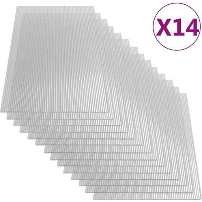 vidaXL Plaques de polycarbonate 14 pcs 4 mm 121x60 cm