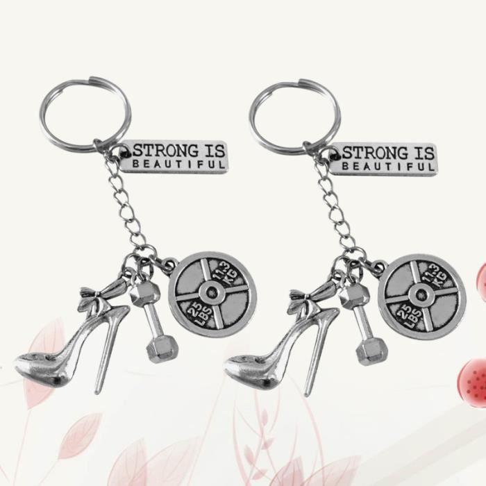 2pcs porte-clés unique décoration clé pour femmes PLATEFORME VIBRANTE - PLAQUE VIBRANTE