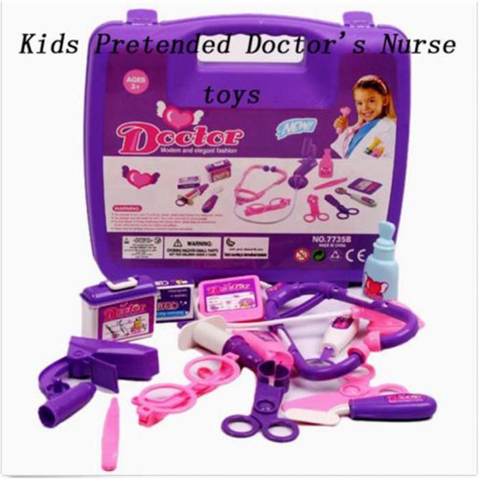 Infirmière médical médecins cas play set kit enfants médecine premiers soins FR couleur aléatoire