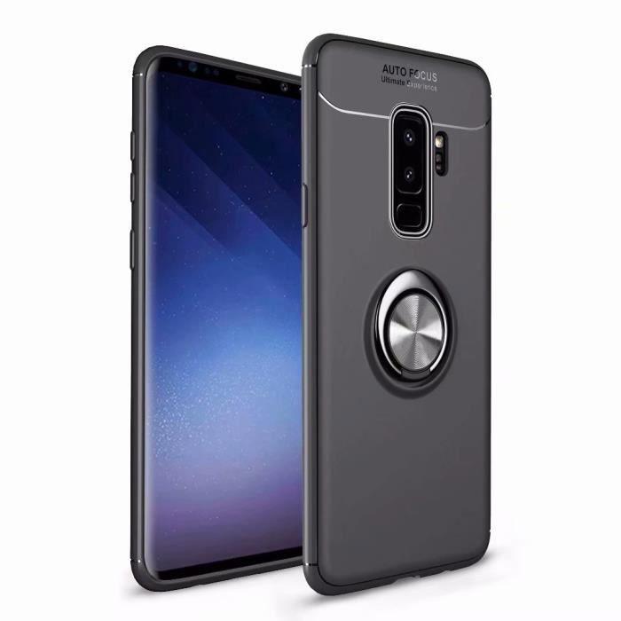 coque iphone 6 plus noir bequille porte bagues pou