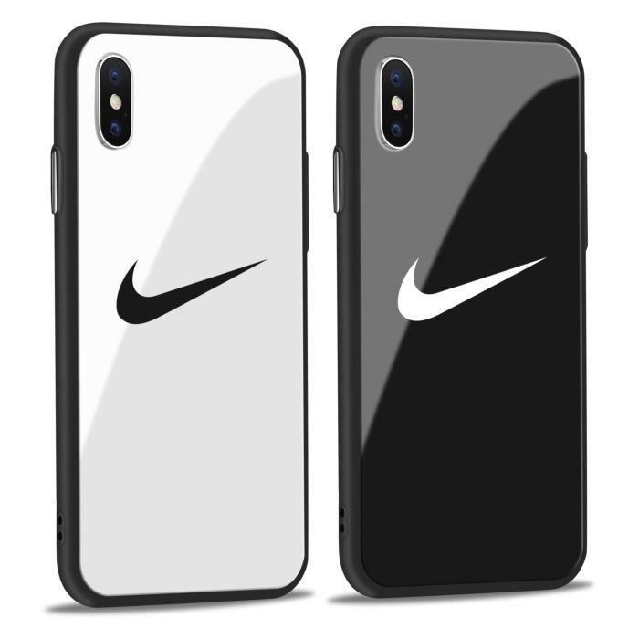 Coque iPhone XKENZO Noir Verre Coque Bumper Housse Etui pour iPhone X