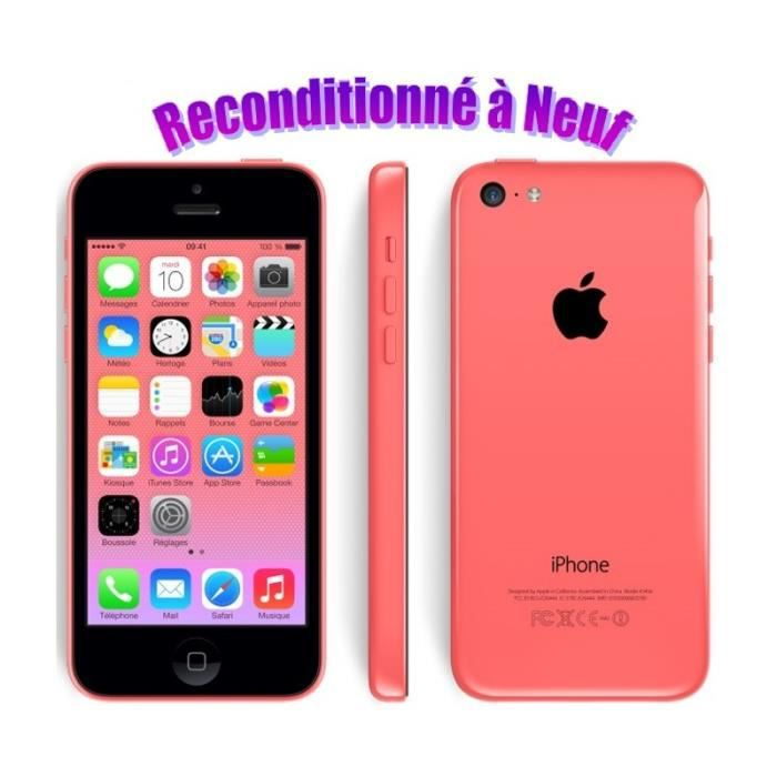 iphone 5c reconditionn 16go rose achat housse tui. Black Bedroom Furniture Sets. Home Design Ideas