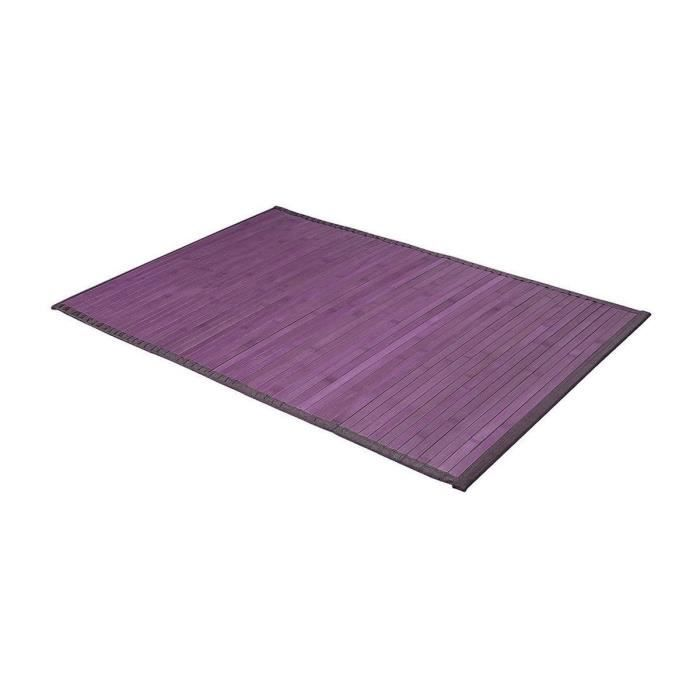 tapis de bains bambou violet 50 x 80 cm achat vente tapis de bain cdisc. Black Bedroom Furniture Sets. Home Design Ideas