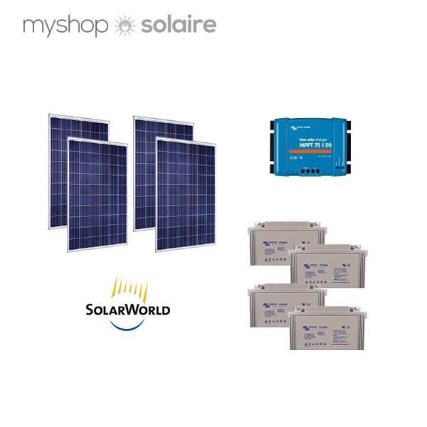 kit solaire 1000w autonome 24v poly achat vente kit. Black Bedroom Furniture Sets. Home Design Ideas