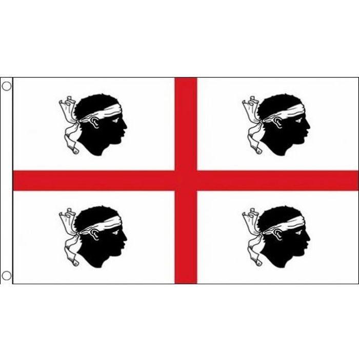Patch ecusson imprime badge vintage drapeau sardaigne independant