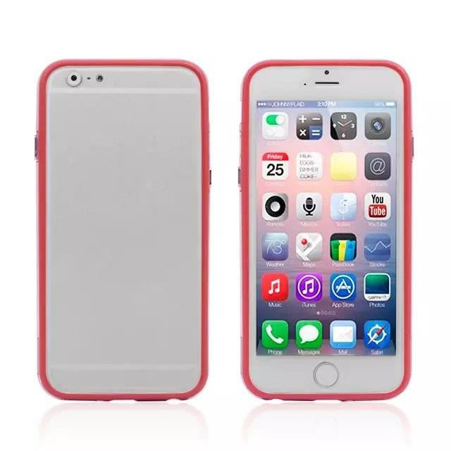 coque iphone 6 4 7 bumper bouton metal rouge