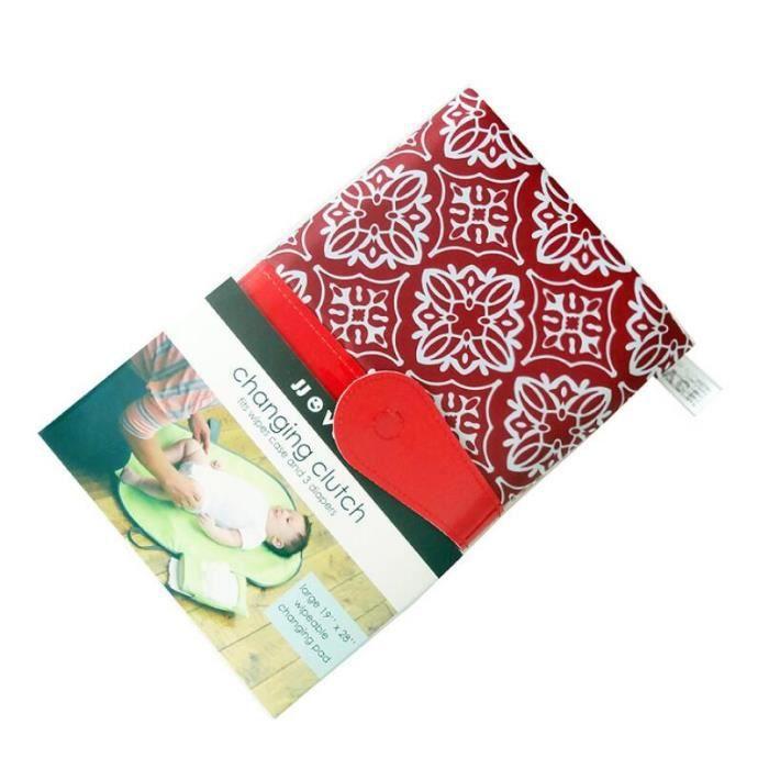 Sevira Kids Collection Flora Corail Tapis /à langer de voyage en coton certifi/é