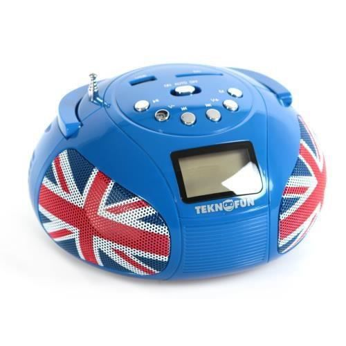 RADIO CD ENFANT TEKNOFUN Mini Boombox Enceinte Stéréo UK Bluetoth