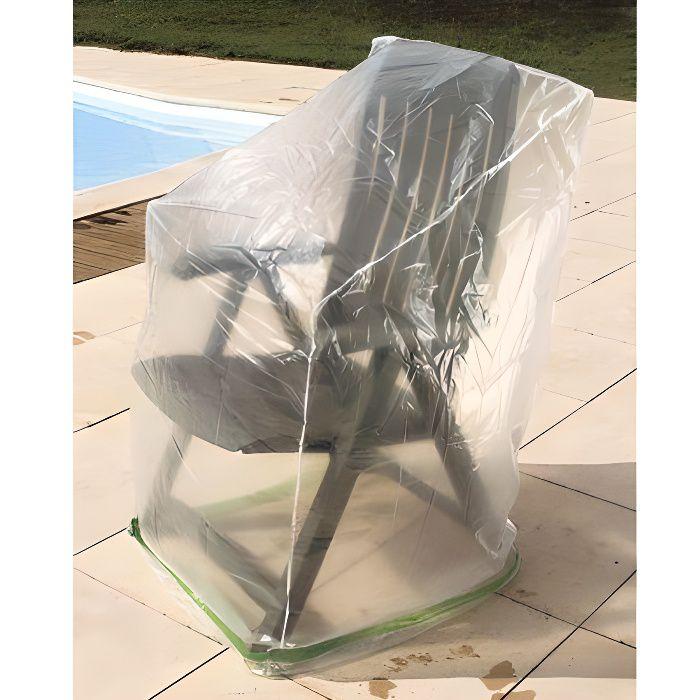 FAUTEUIL JARDIN  Housse pour chaises de jardin 60 x 60 x 110 cm