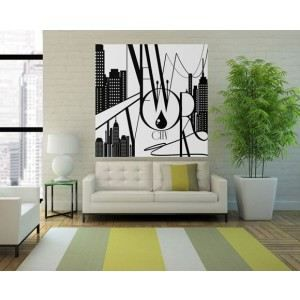D cor mural nyc 150x150cm achat vente affiche cdiscount for Deco murale new york