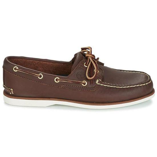 chaussure bateau timberland marron