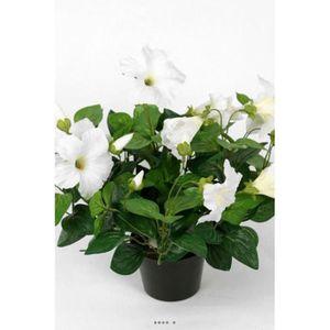 FLEUR ARTIFICIELLE Petunia artificiel en pot H 38 cm 20 fleurs lumine