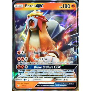 CARTE A COLLECTIONNER carte Pokémon 10-73 Entei-GX SL3.5 Légendes Brilla