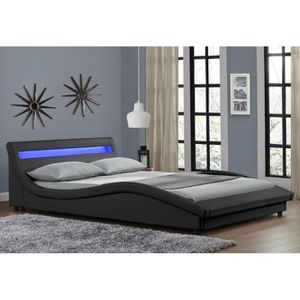 lit 140x190 achat vente lit 140x190 pas cher soldes cdiscount. Black Bedroom Furniture Sets. Home Design Ideas