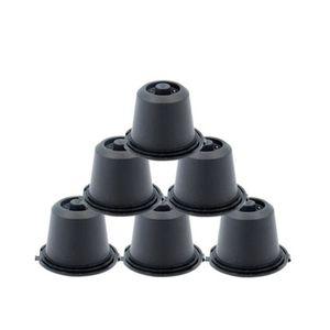 DISTRIBUTEUR CAPSULES QX 6x Capsules noires Rechargeables Réutilisables