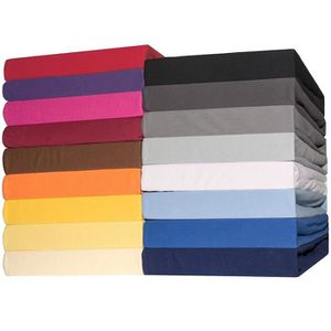 DRAP HOUSSE Celinatex  Drap-Housse Coton, Rouge, 200 x 200 cm