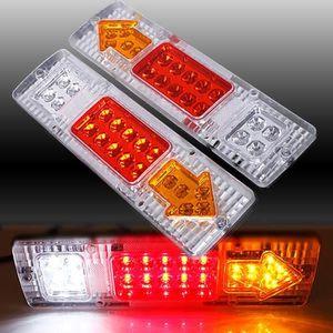 2/x 24/V LED Feux arri/ère pour remorque Indicateur de socle basculant pour ch/âssis de camion camping-car Bus Stop Queue mince lamps