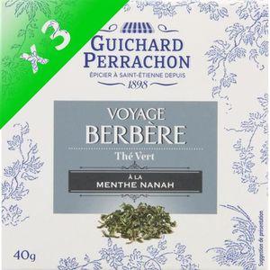 THÉ GUICHARD PERRACHON Thé vert menthe - (Lot de 3x 20