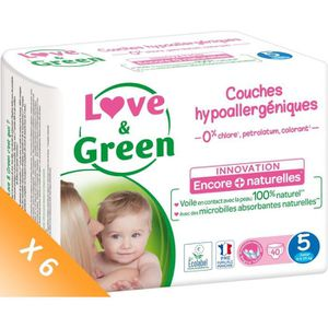 COUCHE LOVE AND GREEN Couches écolabellisées T5 - 240 cou