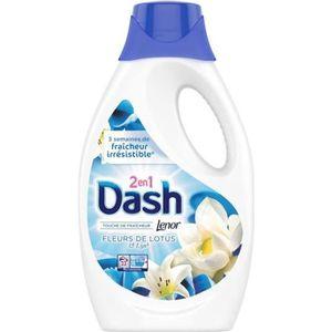 LESSIVE Lessive Dash liquide 2 en 1 fleurs de Lotus et Lys