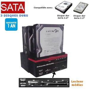 BOITIER POUR COMPOSANT Station disque-dur 2.5 et 3.5 pouces (SATA-IDE) et