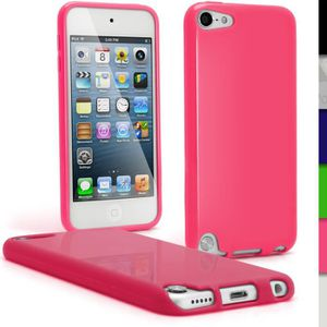 COQUE MP3-MP4 igadgitz Rose Étui TPU Brilliant pour Apple iPod T
