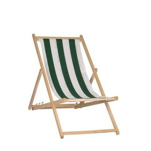 CHAISE LONGUE JARDIN PRIVE Chilienne Cancale - Toile fixe - Vert