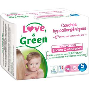 COUCHE LOVE AND GREEN Couches ecolabellisées Taille 5 - 4