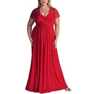 ROBE femme de taille plus manches courtes taille haute