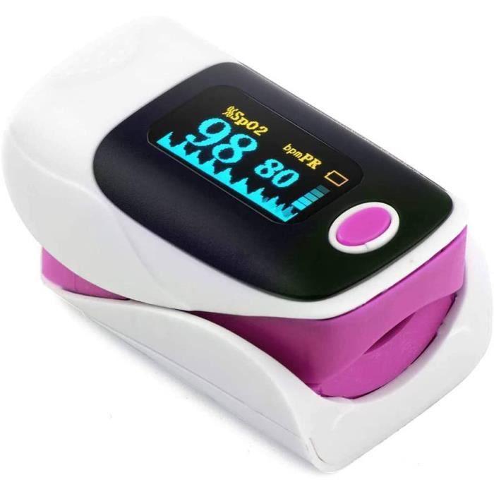 Clip Finger oxymètre de pouls rythme cardiaque détecter mètre moniteur doigt impulsion de l'oxygène (ROSE)