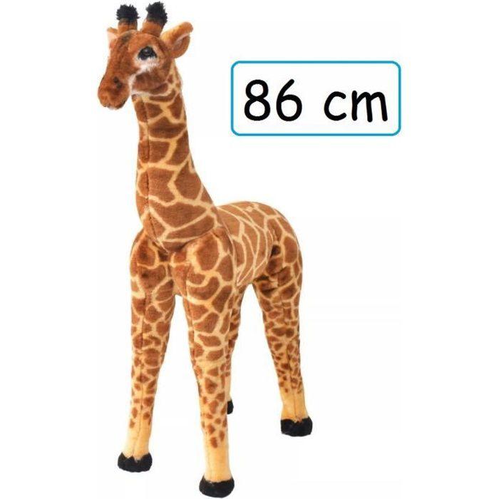 Peluche Girafe Doudou Géant 86 cm XL pour enfant adulte calins décoration cadeau Jouet anniversaire noel