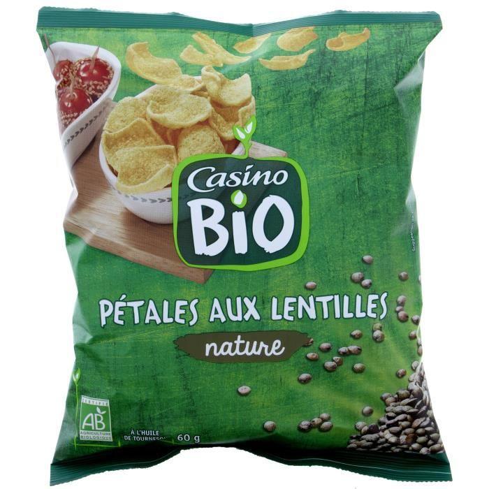 CASINO Pétales aux Lentilles nature Bio - 60G