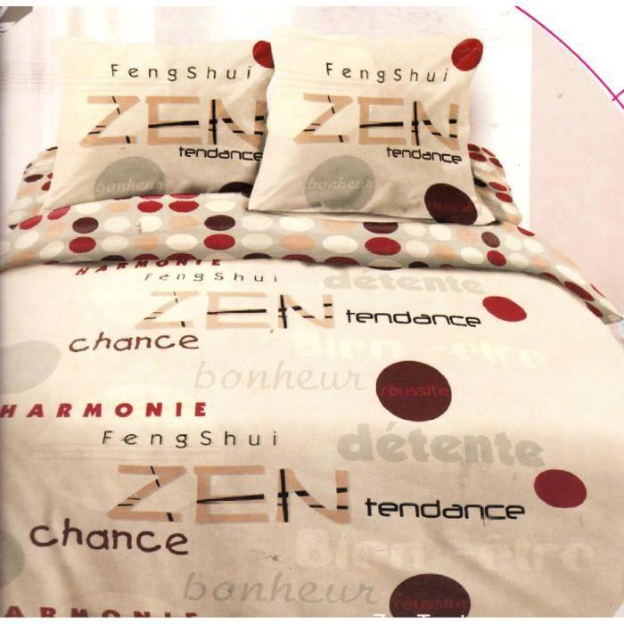 Parure de couette- Lit 2 places – 3 pièces (220x240cm) – Zen Tendance