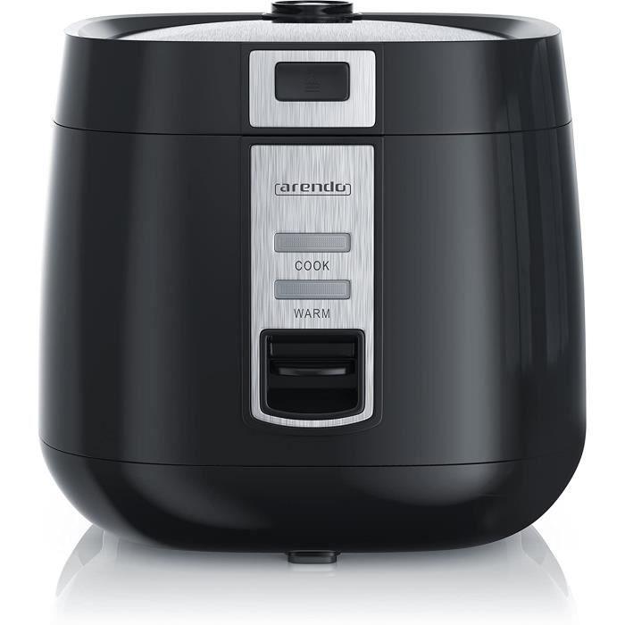 Arendo - Cuiseur de Riz cuiseur à Vapeur - Riz Cook à Home - capacité de 1,4 l - avec Pot intérieur antiadhésif Amovible Couvercle B