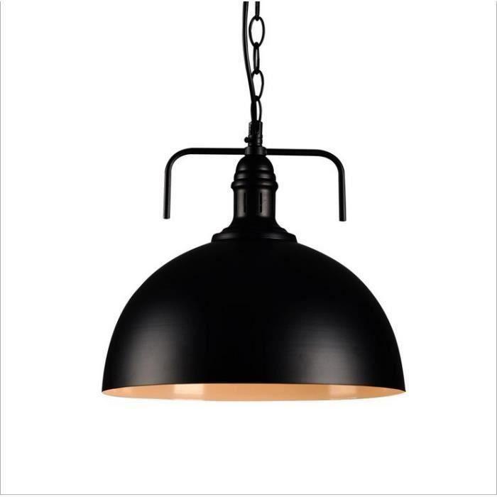 YA*40cm noir américain loft style industriel restaurant chambre bureau coiffeur créatif unique tête lustre en fer forgé