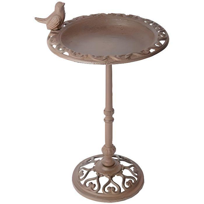Esschert Design Baignoire pour oiseaux 22,5 x 22,5 x 38,5 cm