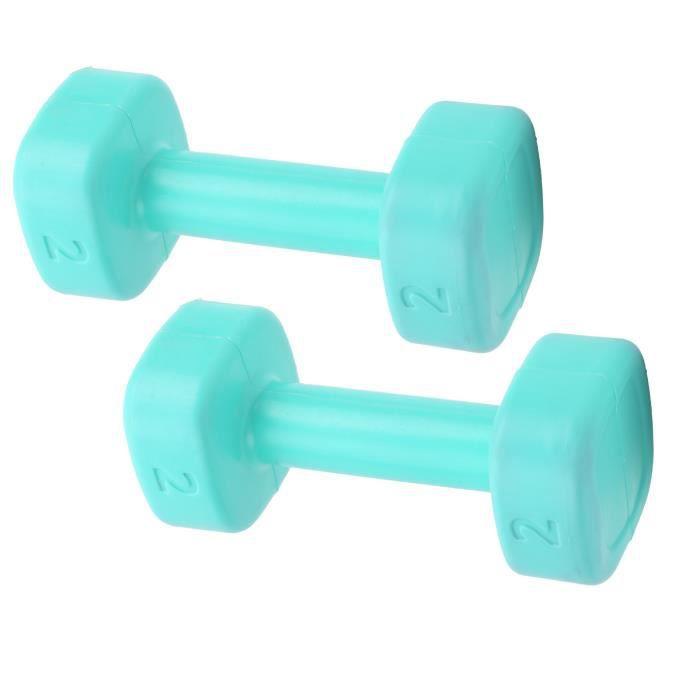 Tbest Haltère de femme 1 Paire Haltère de Fitness Femme Ménage Équipement de Formation de Yoga de Remplissage pour Enfants(vert