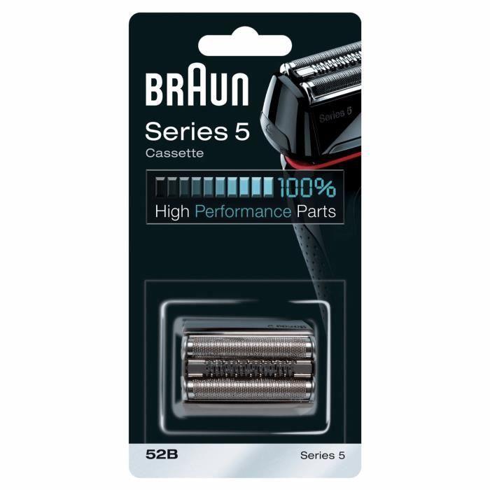 Braun 52B Noire Pièce De Rechange compatible avec les rasoirs Series 5
