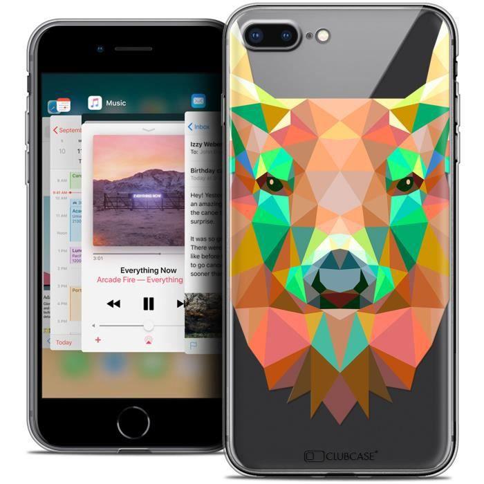 Coque Gel Apple iPhone 8 Plus (5.5 ) Extra Fine Polygon Animals - Cerf