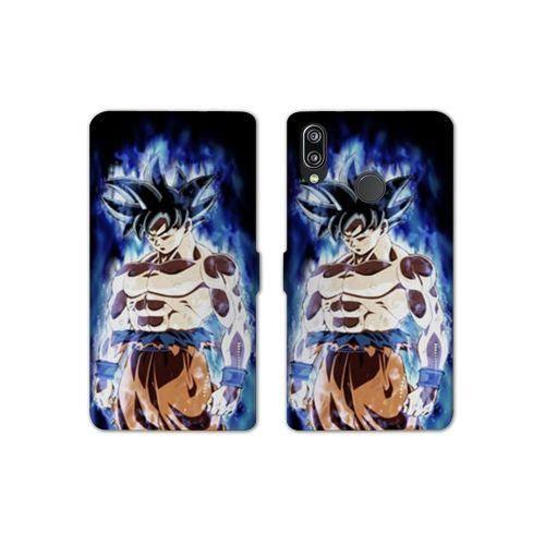 RV Housse cuir portefeuille pour Huawei Honor 10 Lite / P Smart (2019) Manga Dragon Ball Sangoku Noir taille unique