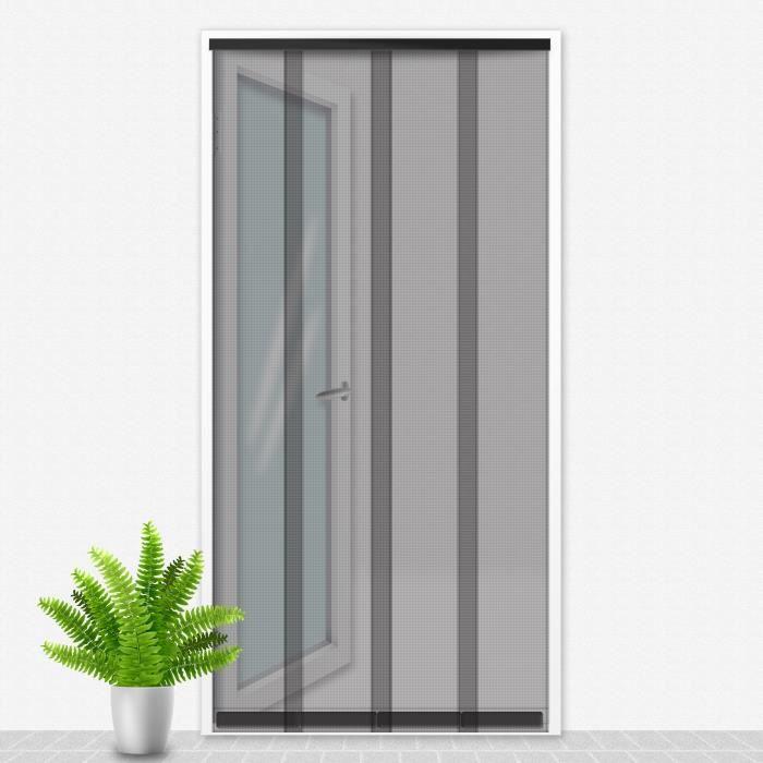 Porte Moustiquaire 90x220 cm Noir