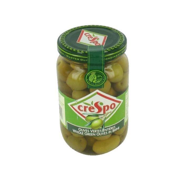 CRESPO Olives vertes entières - 200 g